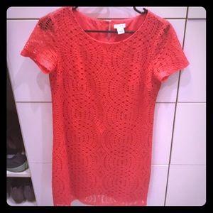 J. Crew coral dress